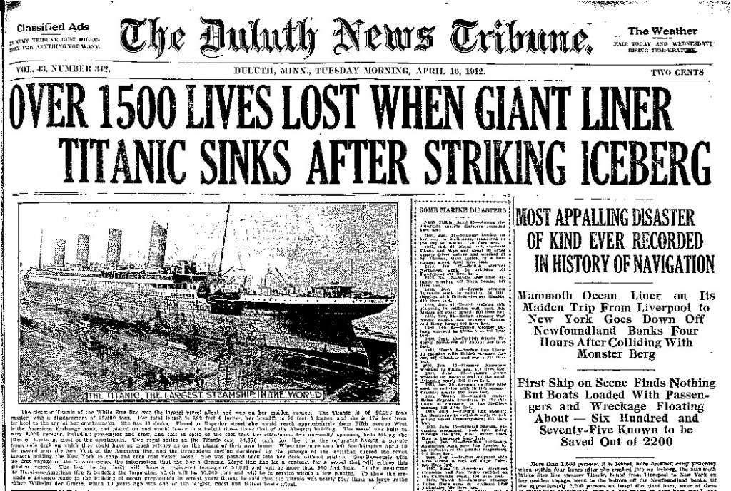 the titanic disaster essay The titanic disaster: an enduring example of money management vs risk management roy brander, peng i've put off starting this essay for days, because today is so.